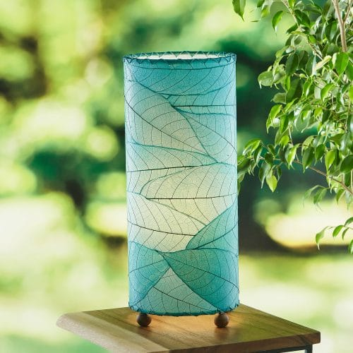 Outdoor Cocoa Cylinder Table Lamp